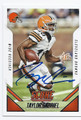 TAYLOR GABRIEL CLEVELAND BROWNS AUTOGRAPHED FOOTBALL CARD #42816B