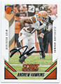 ANDREW HAWKINS CLEVELAND BROWNS AUTOGRAPHED FOOTBALL CARD #42916C