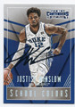 JUSTISE WINSLOW DUKE UNIVERSITY BLUE DEVILS AUTOGRAPHED ROOKIE BASKETBALL CARD #42916E