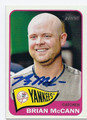 BRIAN McCANN NEW YORK YANKEES AUTOGRAPHED BASEBALL CARD #43016C