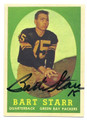 BART STARR GREEN BAY PACKERS AUTOGRAPHED VINTAGE FOOTBALL CARD #50316B