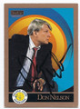 DON NELSON GOLDEN STATE WARRIORS AUTOGRAPHED BASKETBALL CARD #50316F