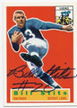 BILL STITS DETROIT LIONS AUTOGRAPHED FOOTBALL CARD #50416F