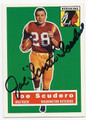 JOE SCUDERO WASHINGTON REDSKINS AUTOGRAPHED FOOTBALL CARD #50516D