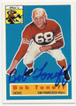 BOB TONEFF SAN FRANCISCO 49ers AUTOGRAPHED FOOTBALL CARD #50516F