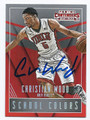 CHRISTIAN WOOD UNLV REBELS AUTOGRAPHED ROOKIE BASKETBALL CARD #50616B