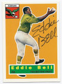 EDDIE BELL PHILADELPHIA EAGLES AUTOGRAPHED FOOTBALL CARD #50716C