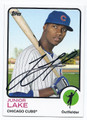 JUNIOR LAKE CHICAGO CUBS AUTOGRAPHED BASEBALL CARD #50816C