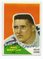 MEL BRANCH DALLAS TEXANS AUTOGRAPHED VINTAGE ROOKIE FOOTBALL CARD #50916A