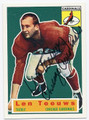 LEN TEEUWS CHICAGO CARDINALS AUTOGRAPHED FOOTBALL CARD #50916E
