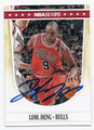 LUOL DENG CHICAGO BULLS AUTOGRAPHED BASKETBALL CARD #50916F