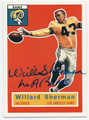 WILLARD SHERMAN LOS ANGELES RAMS AUTOGRAPHED FOOTBALL CARD #51016C