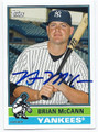 BRIAN McCANN NEW YORK YANKEES AUTOGRAPHED BASEBALL CARD #51216E