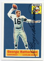 GEORGE RATTERMAN CLEVELAND BROWNS AUTOGRAPHED FOOTBALL CARD #51316F