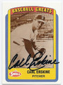 CARL ERSKINE BROOKLYN DODGERS AUTOGRAPHED BASEBALL CARD #51416C