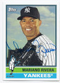 MARIANO RIVERA NEW YORK YANKEES AUTOGRAPHED BASEBALL CARD #51616C