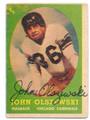 JOHN OLSZEWSKI CHICAGO CARDINALS AUTOGRAPHED VINTAGE FOOTBALL CARD #51616D