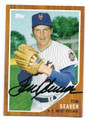 TOM SEAVER NEW YORK METS AUTOGRAPHED BASEBALL CARD #51716C
