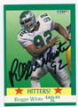 REGGIE WHITE PHILADELPHIA EAGLES AUTOGRAPHED FOOTBALL CARD #51716D