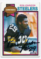 RON JOHNSON PITTSBURGH STEELERS AUTOGRAPHED VINTAGE FOOTBALL CARD #51816B