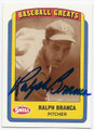 RALPH BRANCA BROOKLYN DODGERS AUTOGRAPHED BASEBALL CARD #51816C