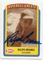RALPH BRANCA BROOKLYN DODGERS AUTOGRAPHED BASEBALL CARD #51816C