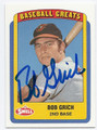 BOB GRICH BALTIMORE ORIOLES AUTOGRAPHED BASEBALL CARD #51916C