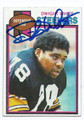 DWIGHT WHITE PITTSBURGH STEELERS AUTOGRAPHED VINTAGE FOOTBALL CARD #51916E