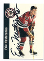 ERIC NESTERENKO CHICAGO BLACK HAWKS AUTOGRAPHED HOCKEY CARD #51916F