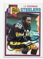 LC GREENWOOD PITTSBURGH STEELERS AUTOGRAPHED VINTAGE FOOTBALL CARD #52116A