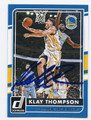 KLAY THOMPSON GOLDEN STATE WARRIORS AUTOGRAPHED BASKETBALL CARD #52316A