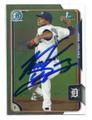 JOSE VALDEZ DETROIT TIGERS AUTOGRAPHED ROOKIE BASEBALL CARD #52316B