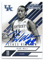 JOHN WALL UNIVERSITY OF KENTUCKY WILDCATS AUTOGRAPHED BASKETBALL CARD #52316F