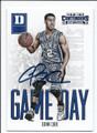 QUINN COOK DUKE UNIVERSITY BLUE DEVILS AUTOGRAPHED ROOKIE BASKETBALL CARD #52516B