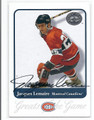 JACQUES LEMAIRE MONTREAL CANADIENS AUTOGRAPHED HOCKEY CARD #52516D