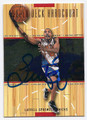LATRELL SPREWELL NEW YORK KNICKS AUTOGRAPHED BASKETBALL CARD #52616C