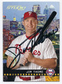 JIM THOME PHILADELPHIA PHILLIES AUTOGRAPHED & NUMBERED BASEBALL CARD #52616E