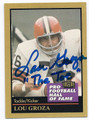 LOU GROZA CLEVELAND BROWNS AUTOGRAPHED FOOTBALL CARD #52716F