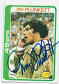 JIM PLUNKETT SAN FRANCISCO 49ers AUTOGRAPHED VINTAGE FOOTBALL CARD #52816B