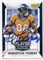 DEMARYIUS THOMAS DENVER BRONCOS AUTOGRAPHED FOOTBALL CARD #52916B