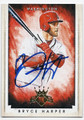 BRYCE HARPER WASHINGTON NATIONALS AUTOGRAPHED BASEBALL CARD #52916C
