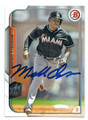 MARCELL AZUNA MIAMI MARLINS AUTOGRAPHED BASEBALL CARD #52916E