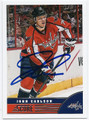 JOHN CARLSON WASHINGTON CAPITALS AUTOGRAPHED HOCKEY CARD #52916F