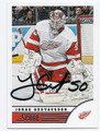 JONAS GUSTAVSSON DETROIT RED WINGS AUTOGRAPHED HOCKEY CARD #53116A