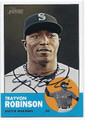 TRAYVON ROBINSON SEATTLE MARINERS AUTOGRAPHED BASEBALL CARD #60116C