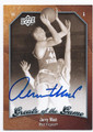 JERRY WEST WEST VIRGINIA MOUNTAINEERS AUTOGRAPHED BASKETBALL CARD #60116D