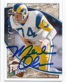 MERLIN OLSEN LOS ANGELES RAMS AUTOGRAPHED FOOTBALL CARD #60116E