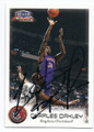 CHARLES OAKLEY TORONTO RAPTORS AUTOGRAPHED BASKETBALL CARD #60216A