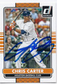 CHRIS CARTER HOUSTON ASTROS AUTOGRAPHED BASEBALL CARD #60316B