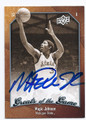 MAGIC JOHNSON MICHIGAN STATE UNIVERSITY AUTOGRAPHED BASKETBALL CARD #60516B
